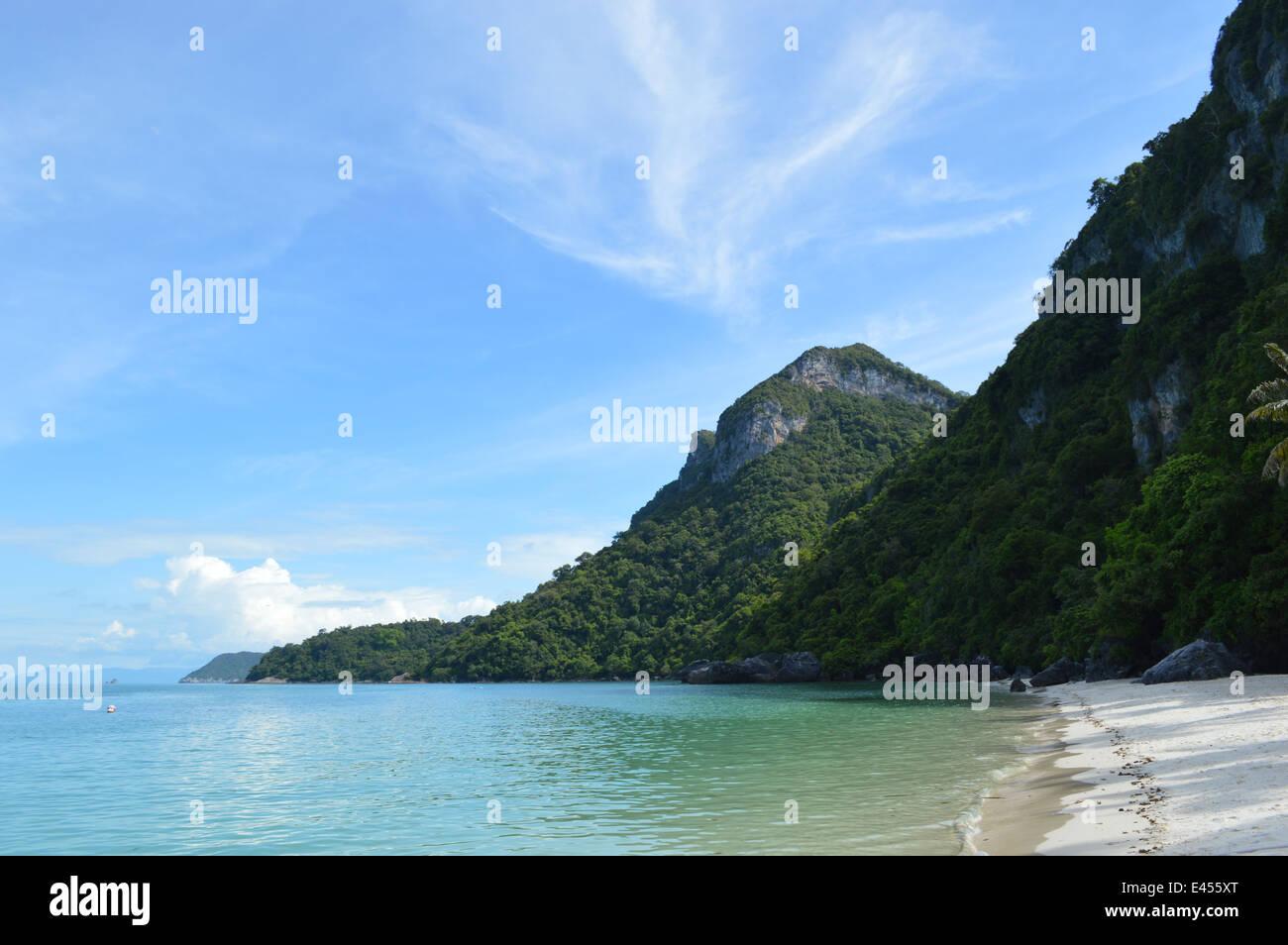 Verlassener Strand in Ang Thong National Park, Thailand Stockbild