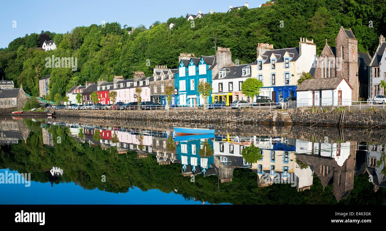 Bemalten Häusern am Meer entlang, Tobermory, Isle of Mull, Inneren ...