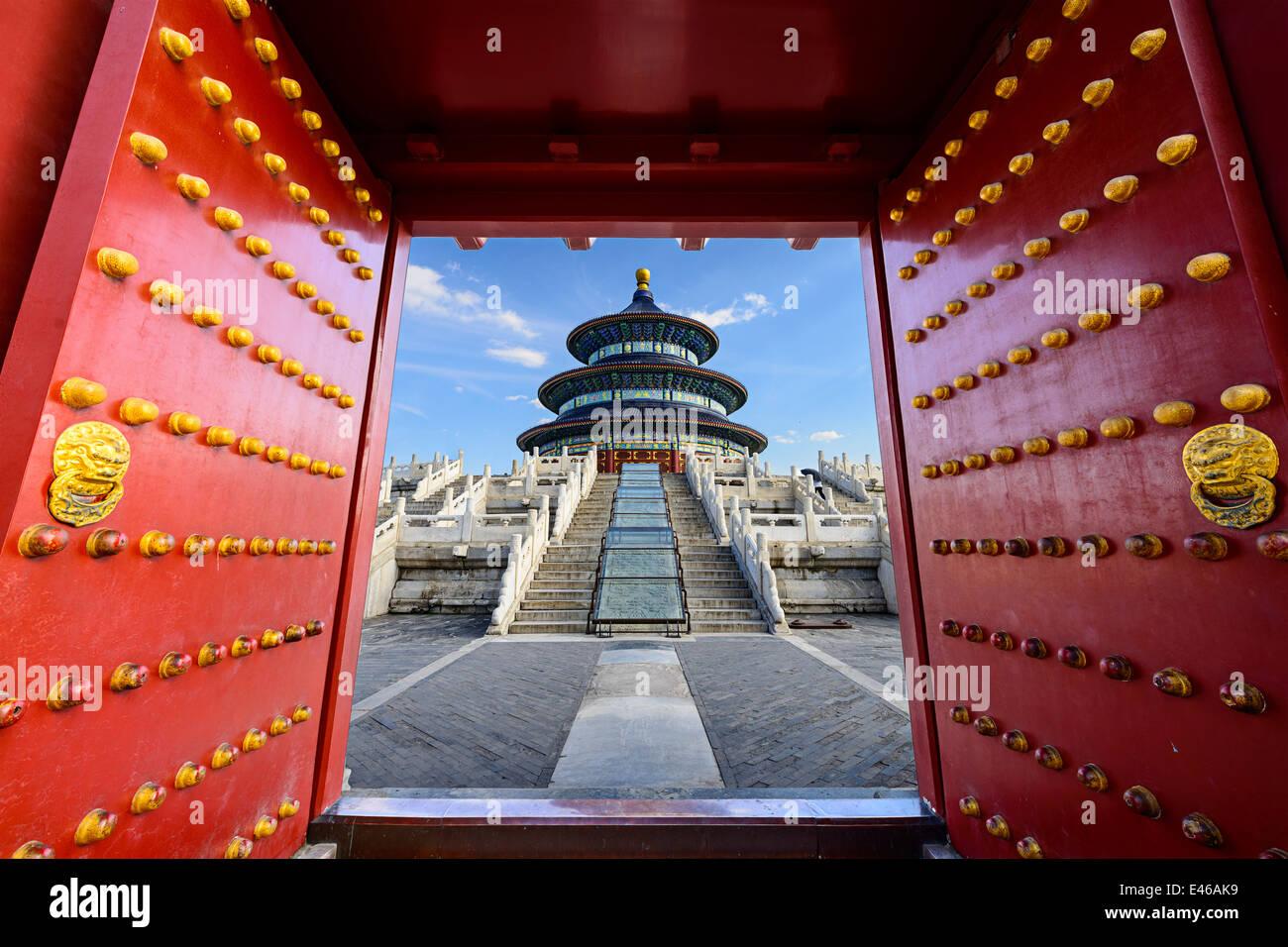 Peking, China am Temple of Heaven. Stockbild