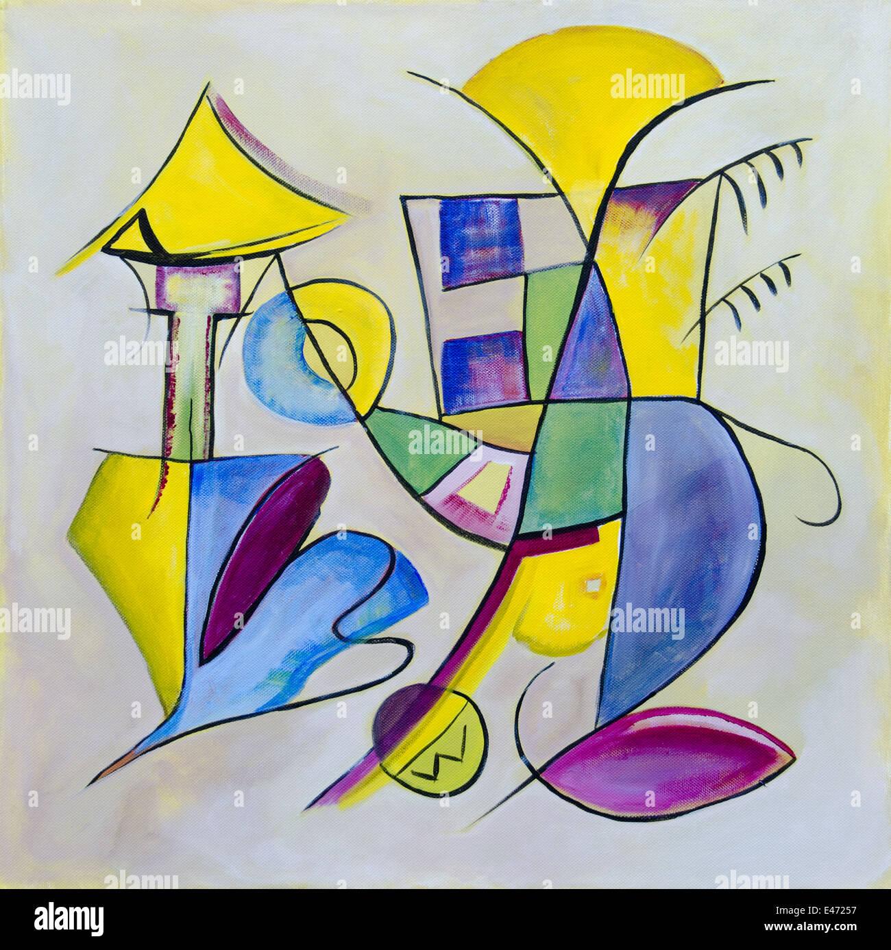 Abstrakter Kunst, zeitgenössische Malerei Stockfoto, Bild: 71455475 ...