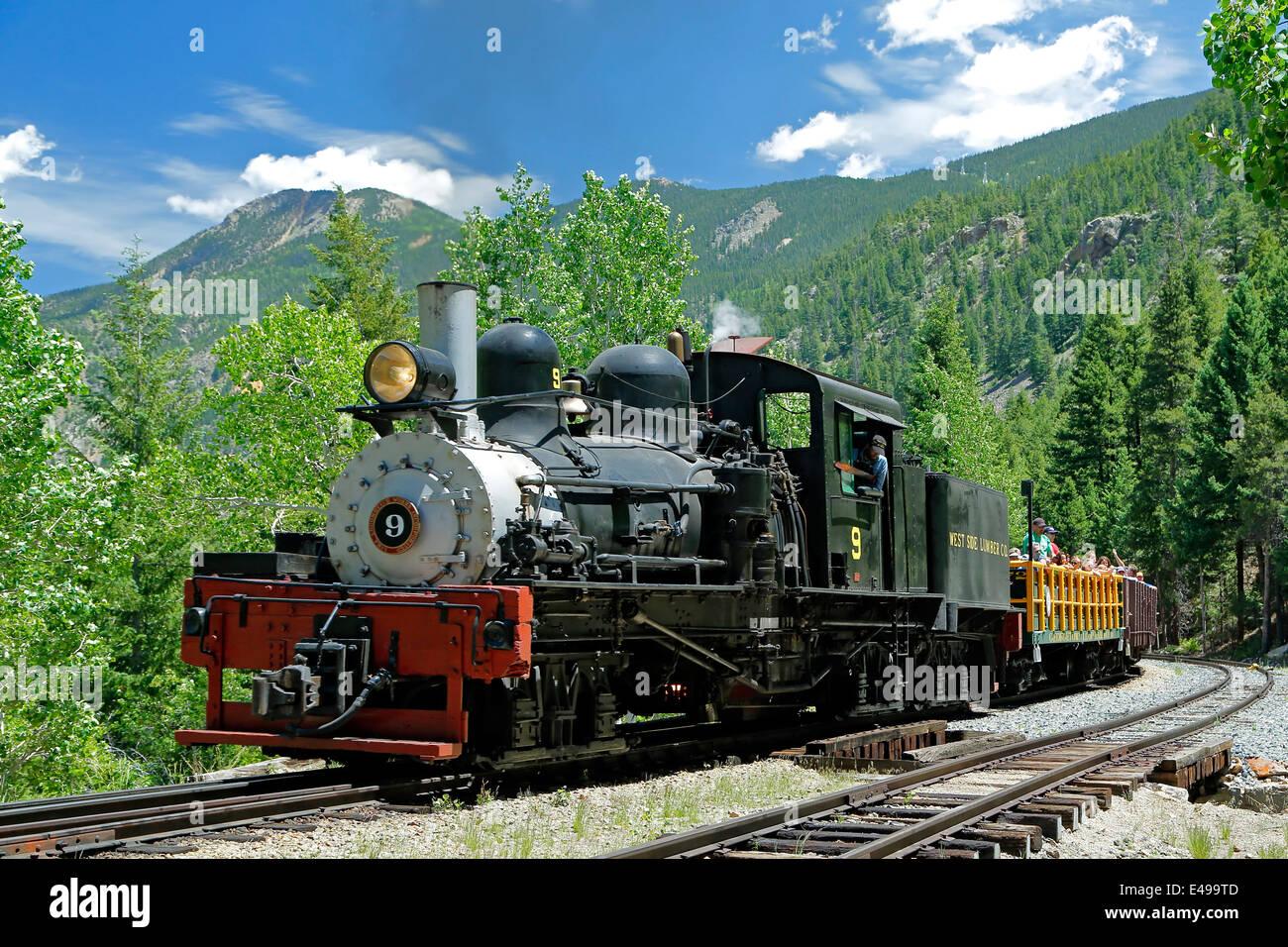 Historische Georgetown Loop Railroad, Georgetown, Colorado USA Stockbild