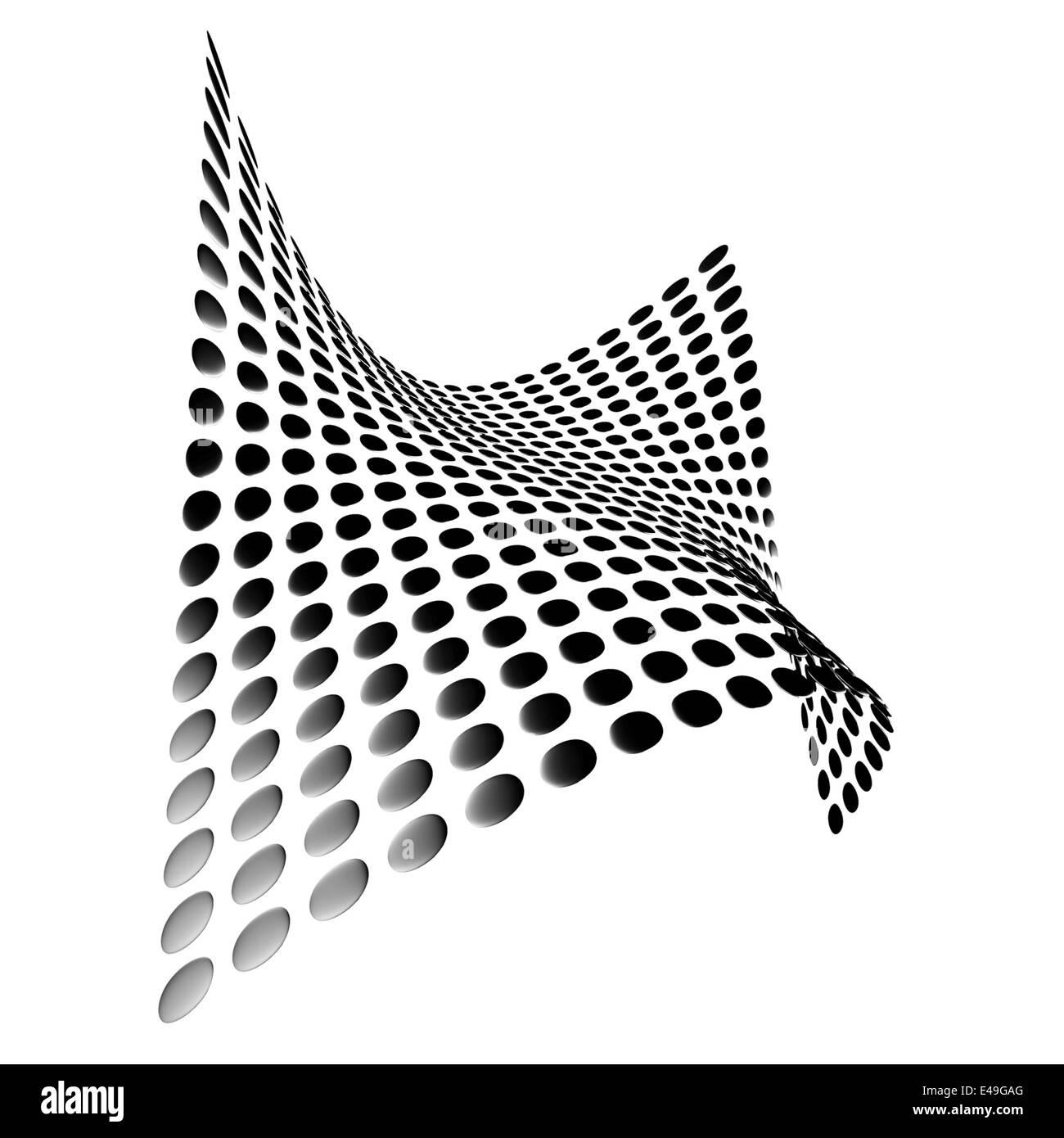 abstrakte Metallplatten abgerundete Form einer Welle Stockfoto