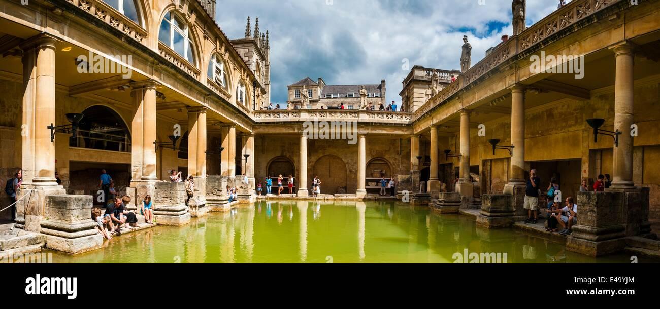 Römische Bäder, UNESCO-Weltkulturerbe, Bad, Avon und Somerset, England, Vereinigtes Königreich, Europa Stockbild