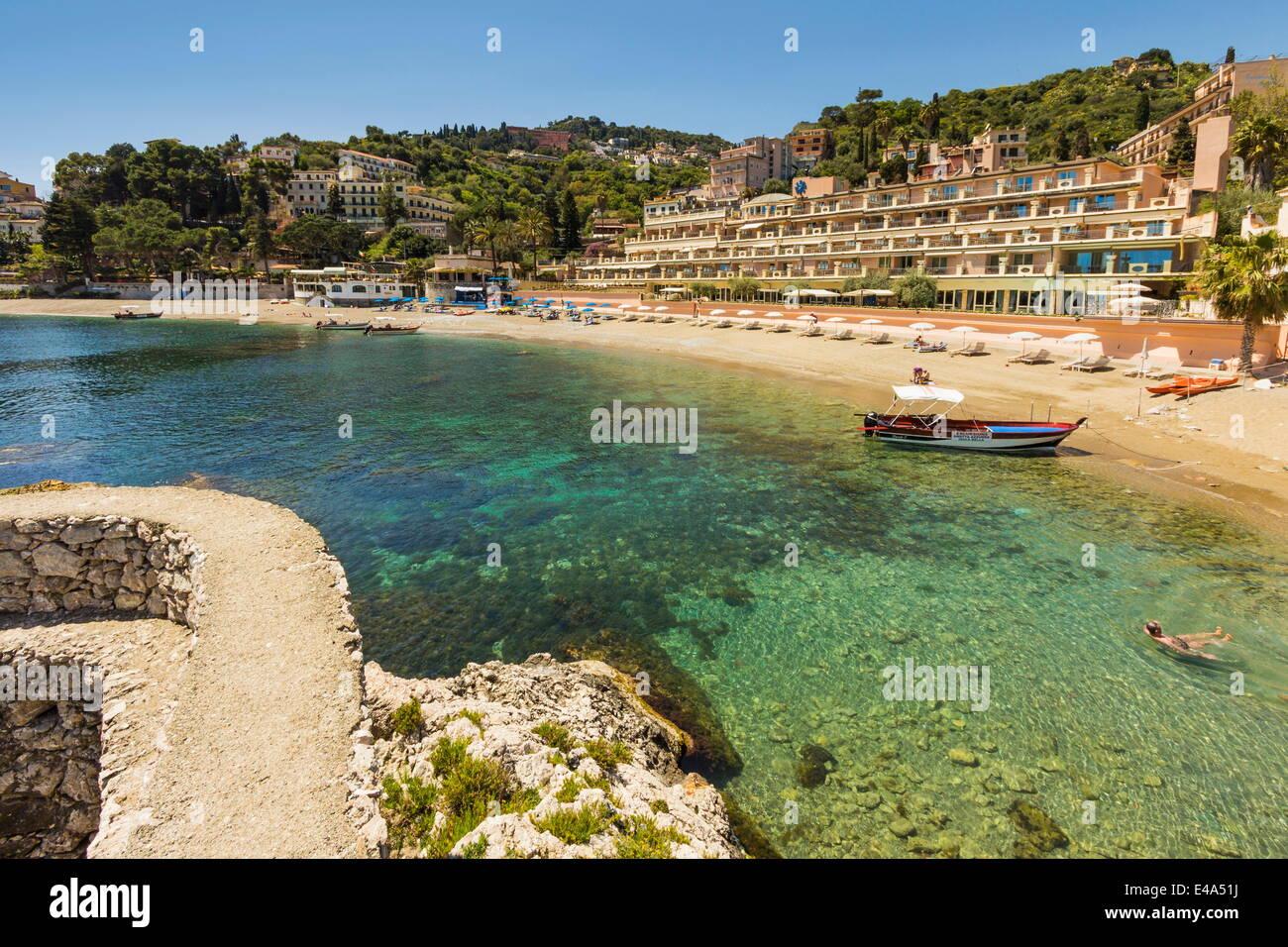Mazzaro Bucht Und Das Hotel Mazzaro Sea Palace In Diesem Beliebten
