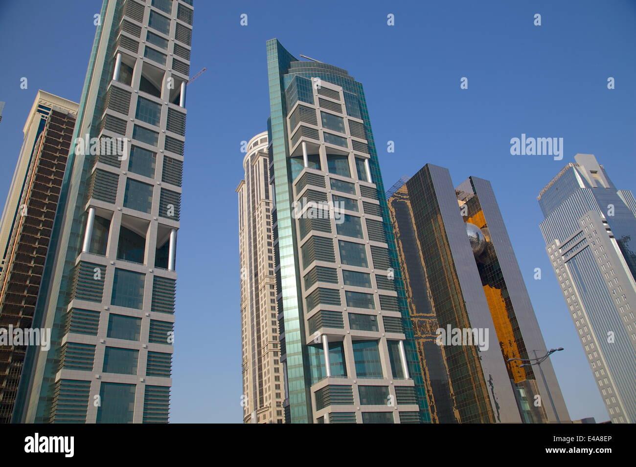 Zeitgenössische Architektur in City Centre, Doha, Katar, Nahost Stockbild