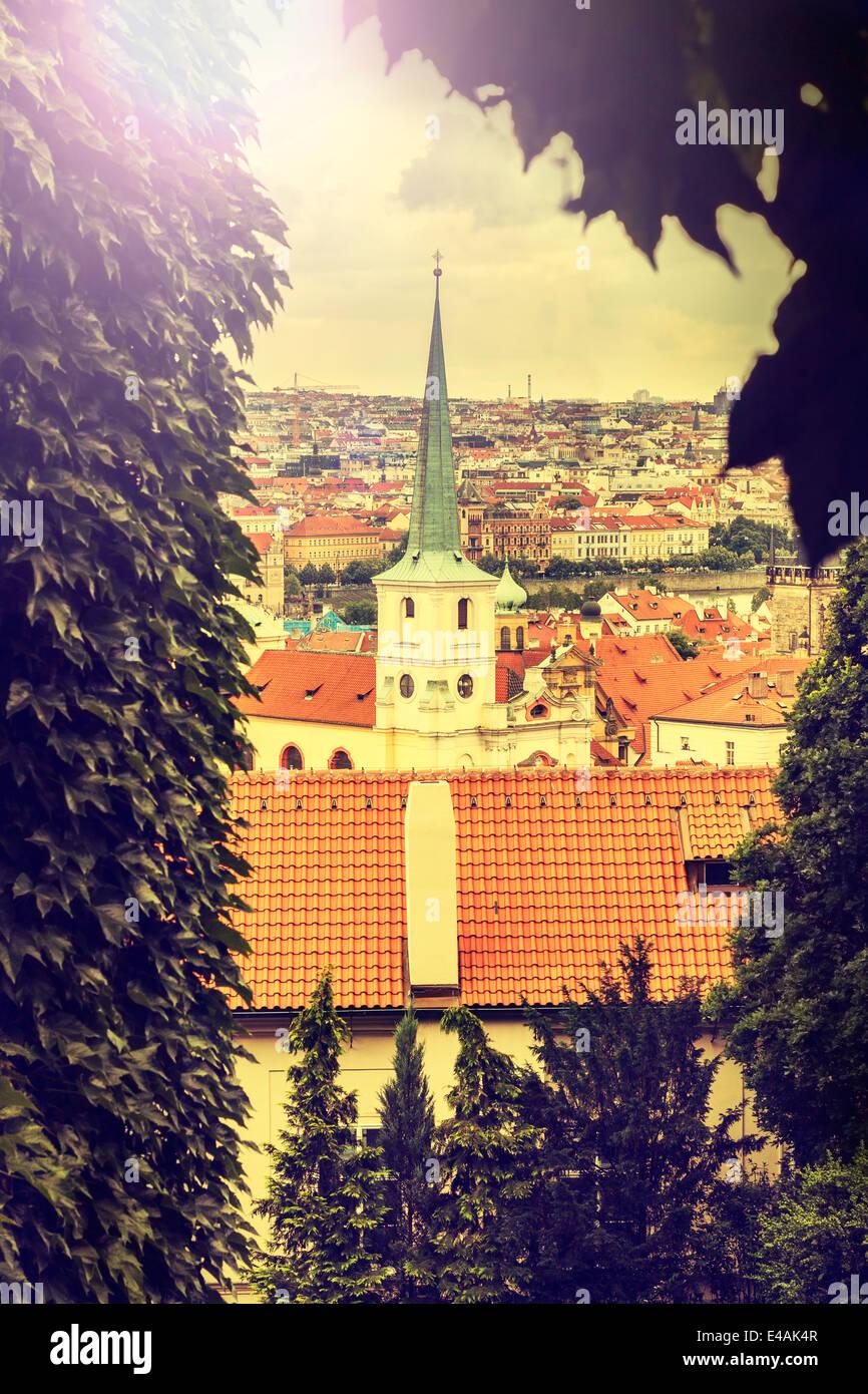 Prag, Tschechische Republik, Vintage retro Instagram Stil. Stockbild