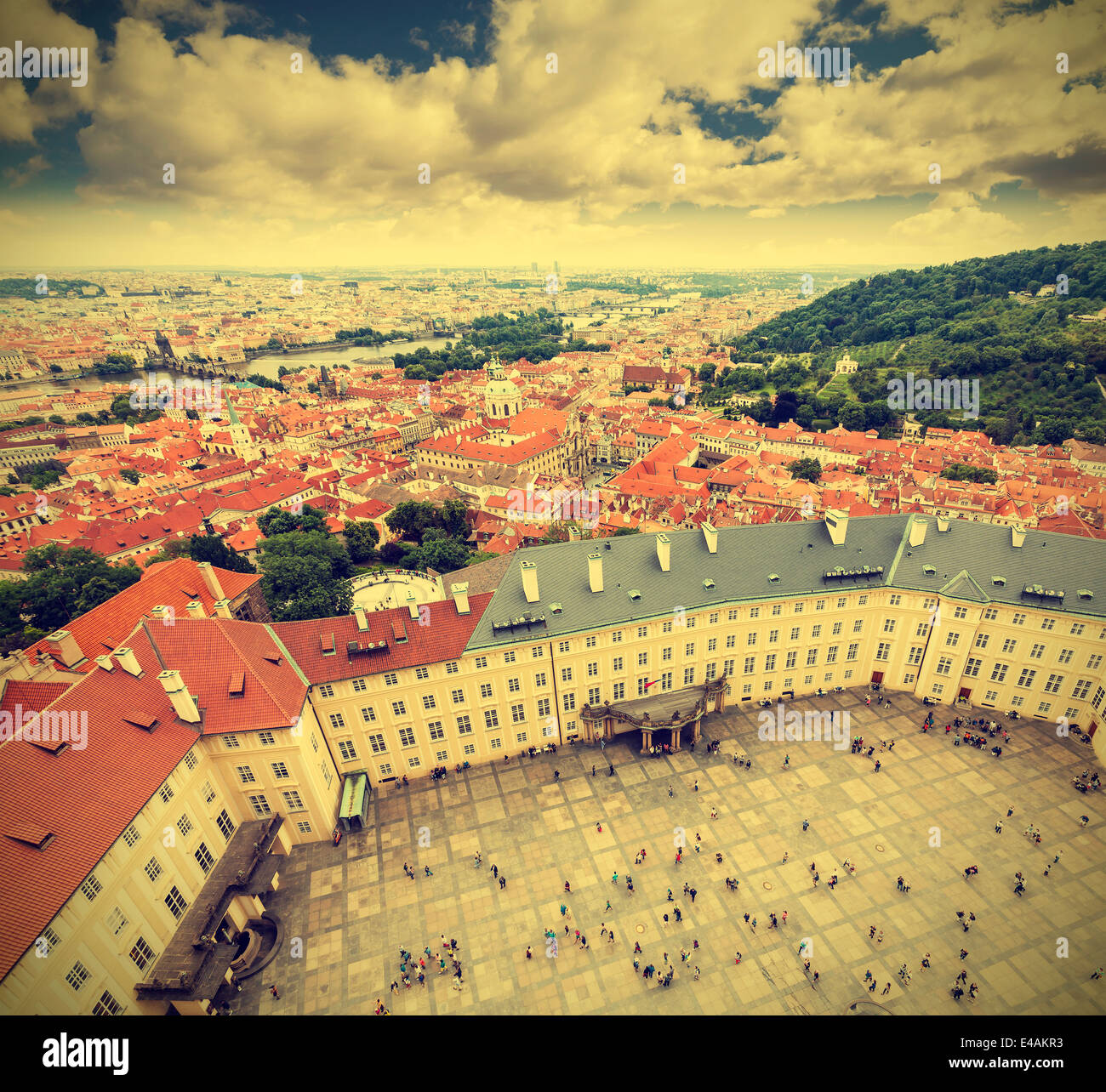 Altstadt von Prag, der Tschechischen Republik, Retro-Effekt. Stockbild