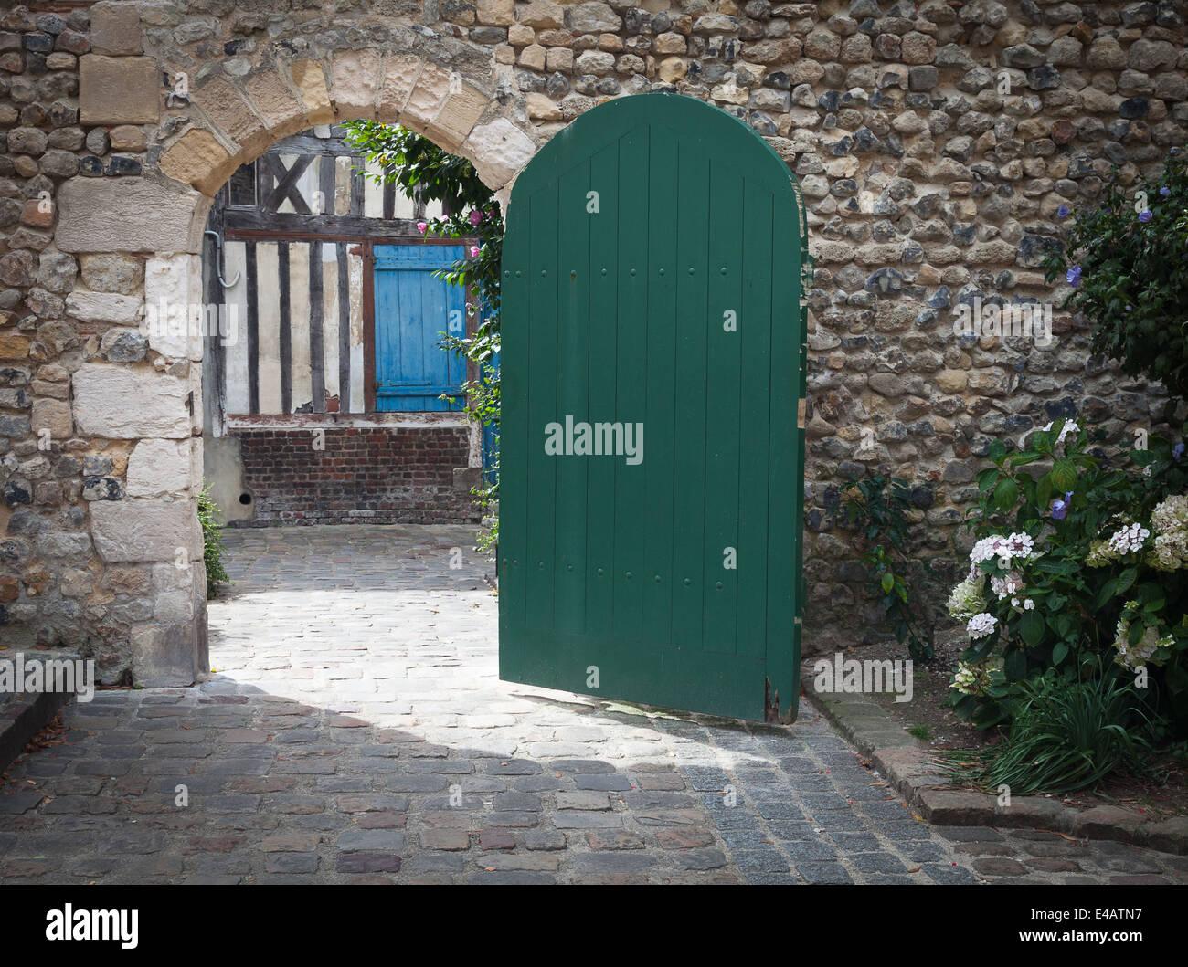 Frankreich Stadt Honfleur Stockbild