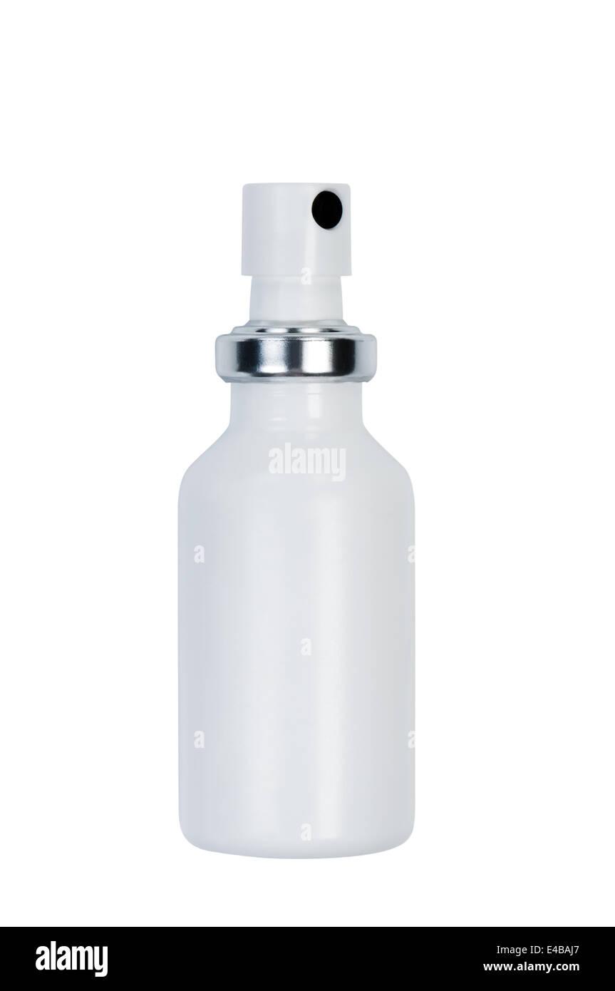 Flasche mit Spray. Stockbild