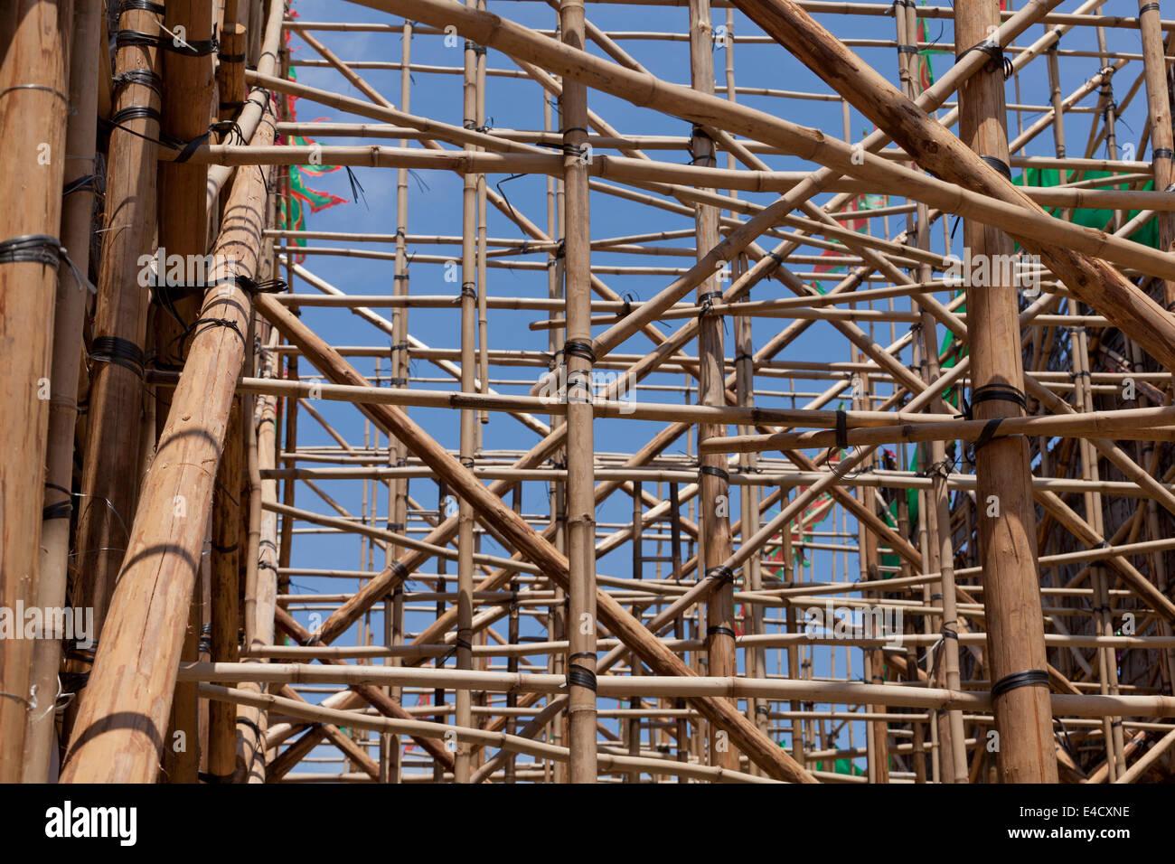 Bambus-Gerüst Stockbild