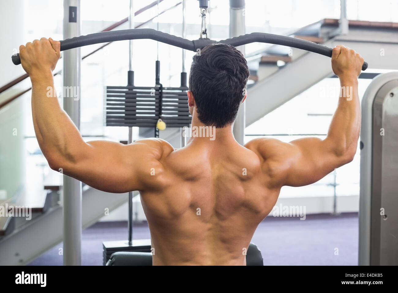 Muscular Back Weights Stockfotos & Muscular Back Weights Bilder ...