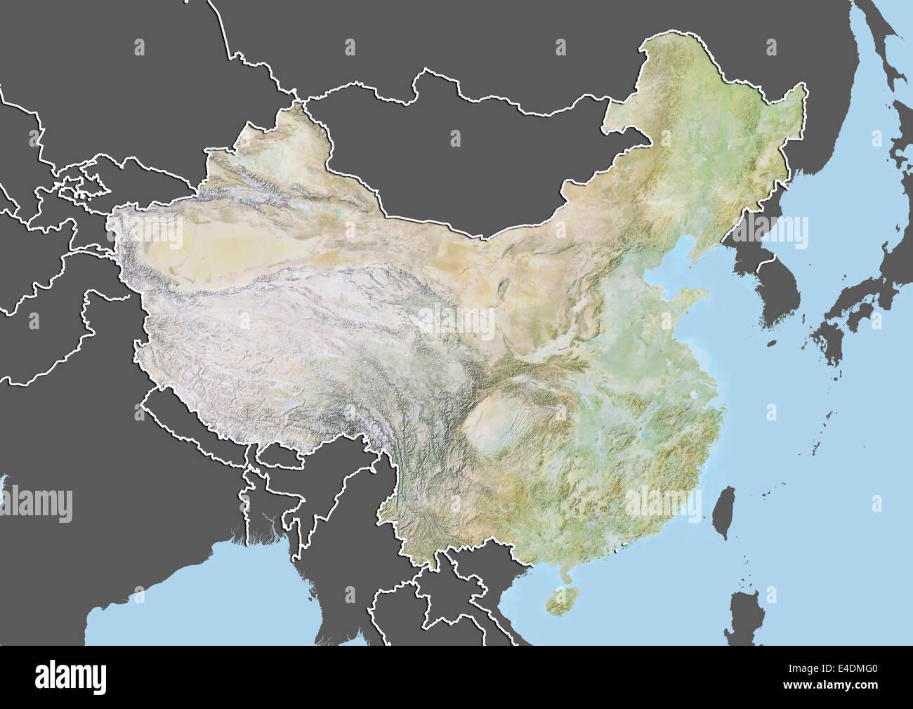 Shanghai China Map on