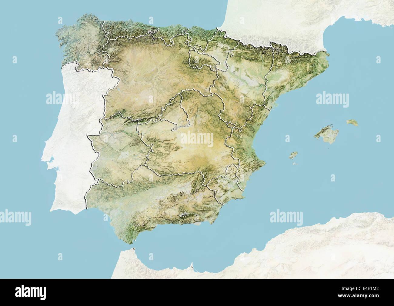 Spain Map Regions Stockfotos & Spain Map Regions Bilder - Alamy