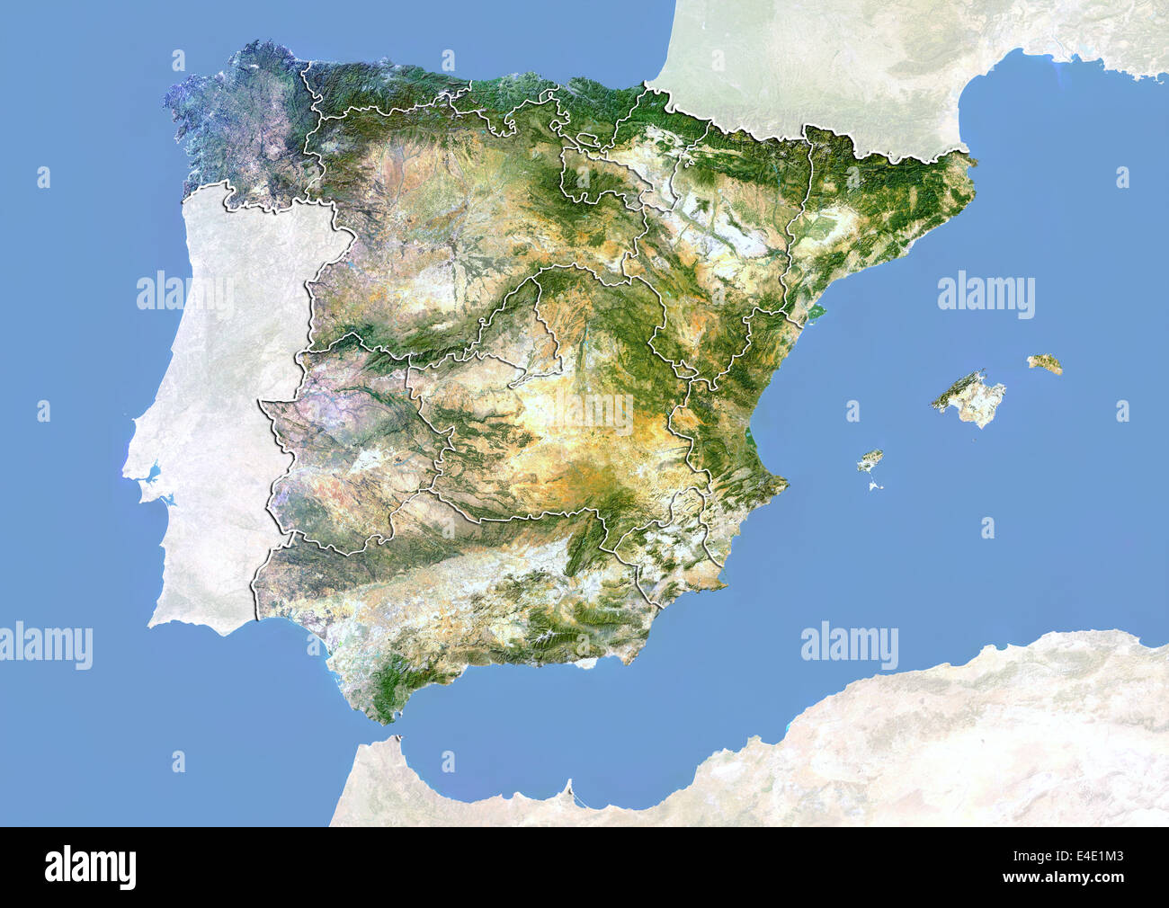 Satellitenbild Spanien