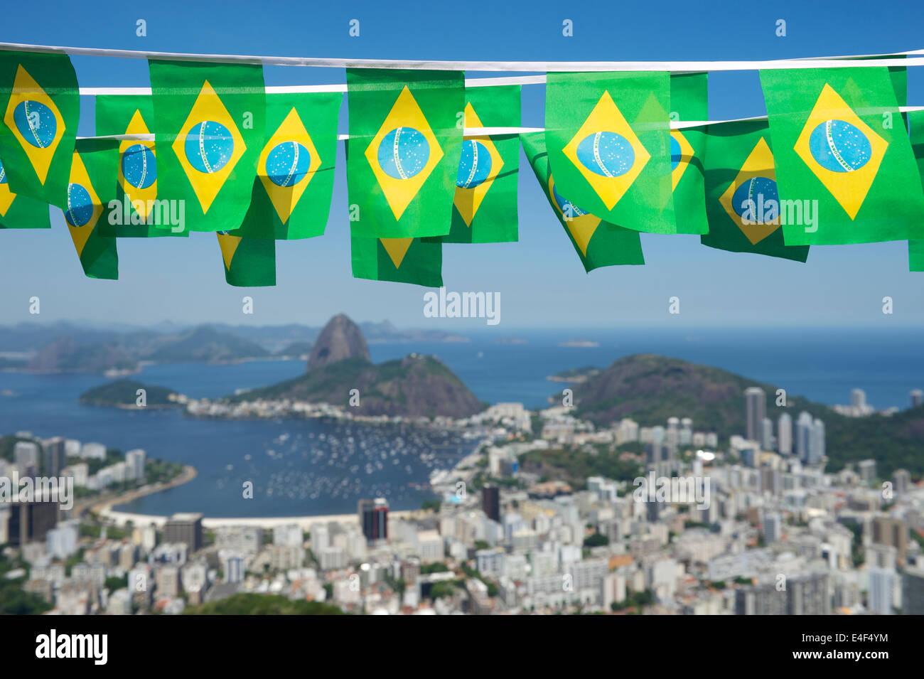 Brasilianische Dekoration brasilianische fahnen girlande dekoration oben blick auf das