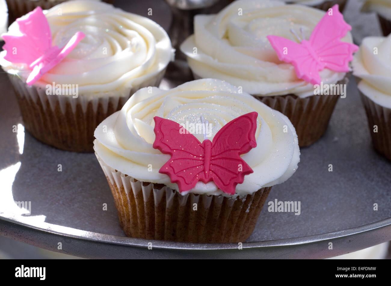 Nahaufnahme Von Einem Geburtstag Cupcake Mit Selektiven Fokus
