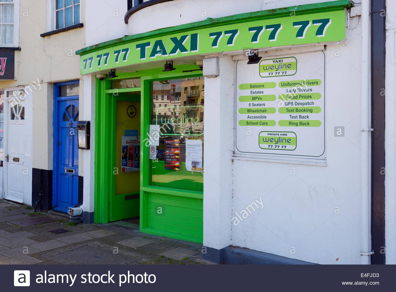 Weyline Taxi Taxi Buro Queen Street Weymouth Dorset England Uk