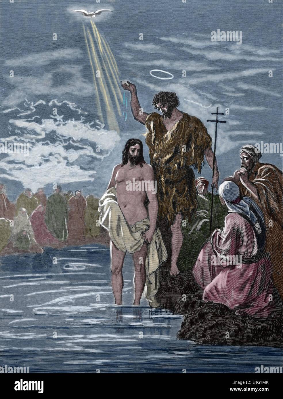 Neuen Testaments Die Taufe Von Jesus Mattehw 0316 17