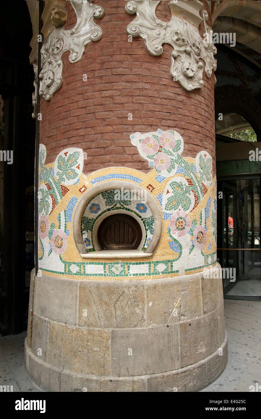 Spanien. Barcelona. Palast der katalanischen Musik. Konzertsaal. Moderne Stil. Erbaut 1905 ? 1908 durch Luis Domech Stockbild