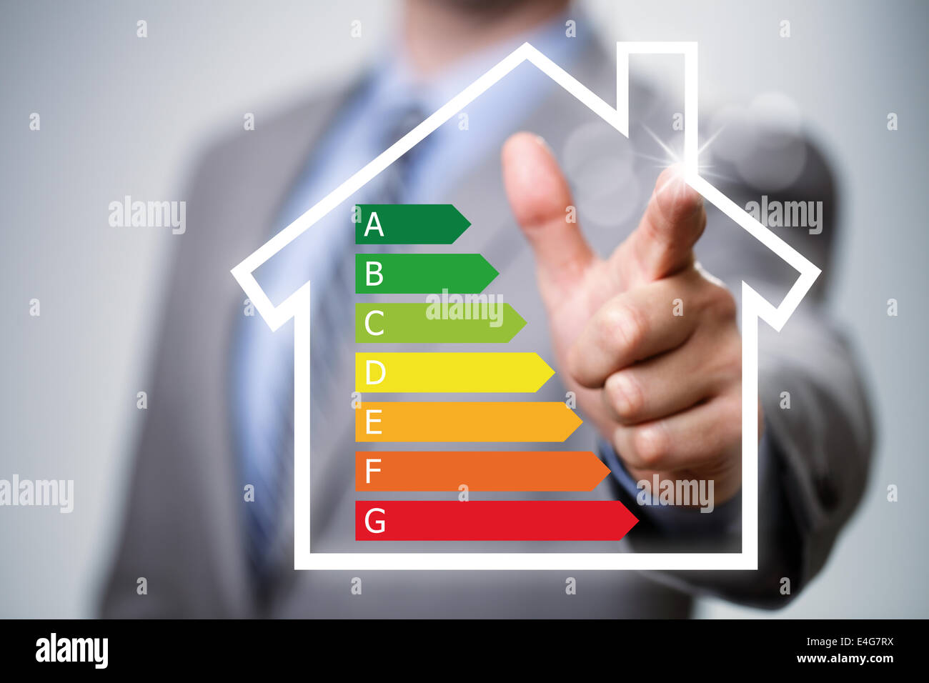 Energieeffizienz im Haushalt Stockbild