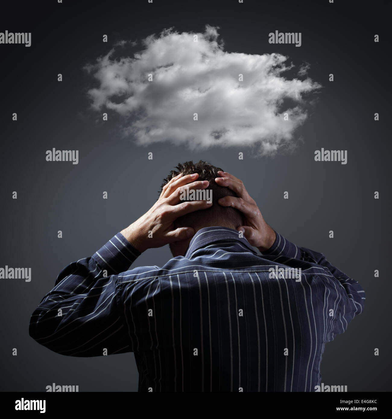 Depression Stockbild