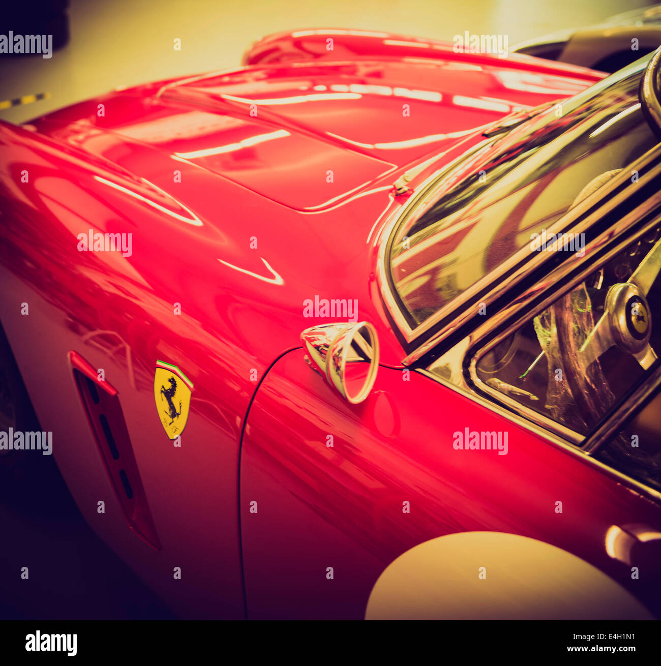 Ferrari Sportwagen der 60er Jahre Stockbild