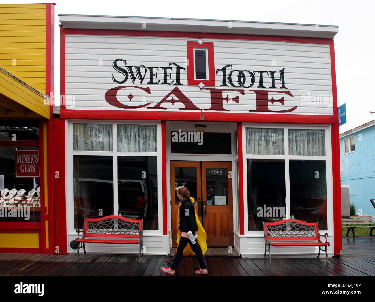 Süßes Cafe Skagway Stockbild