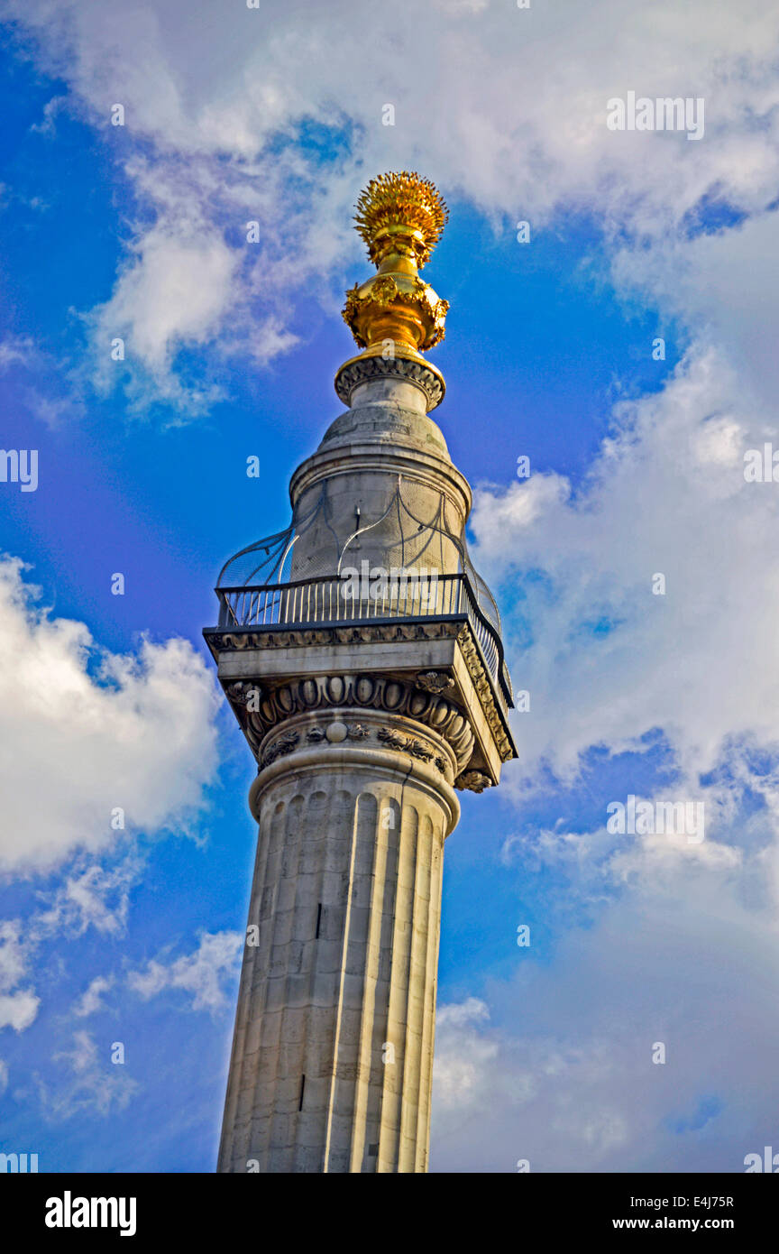 Das Denkmal für den großen Brand von London, City of London, London, England, Vereinigtes Königreich Stockbild