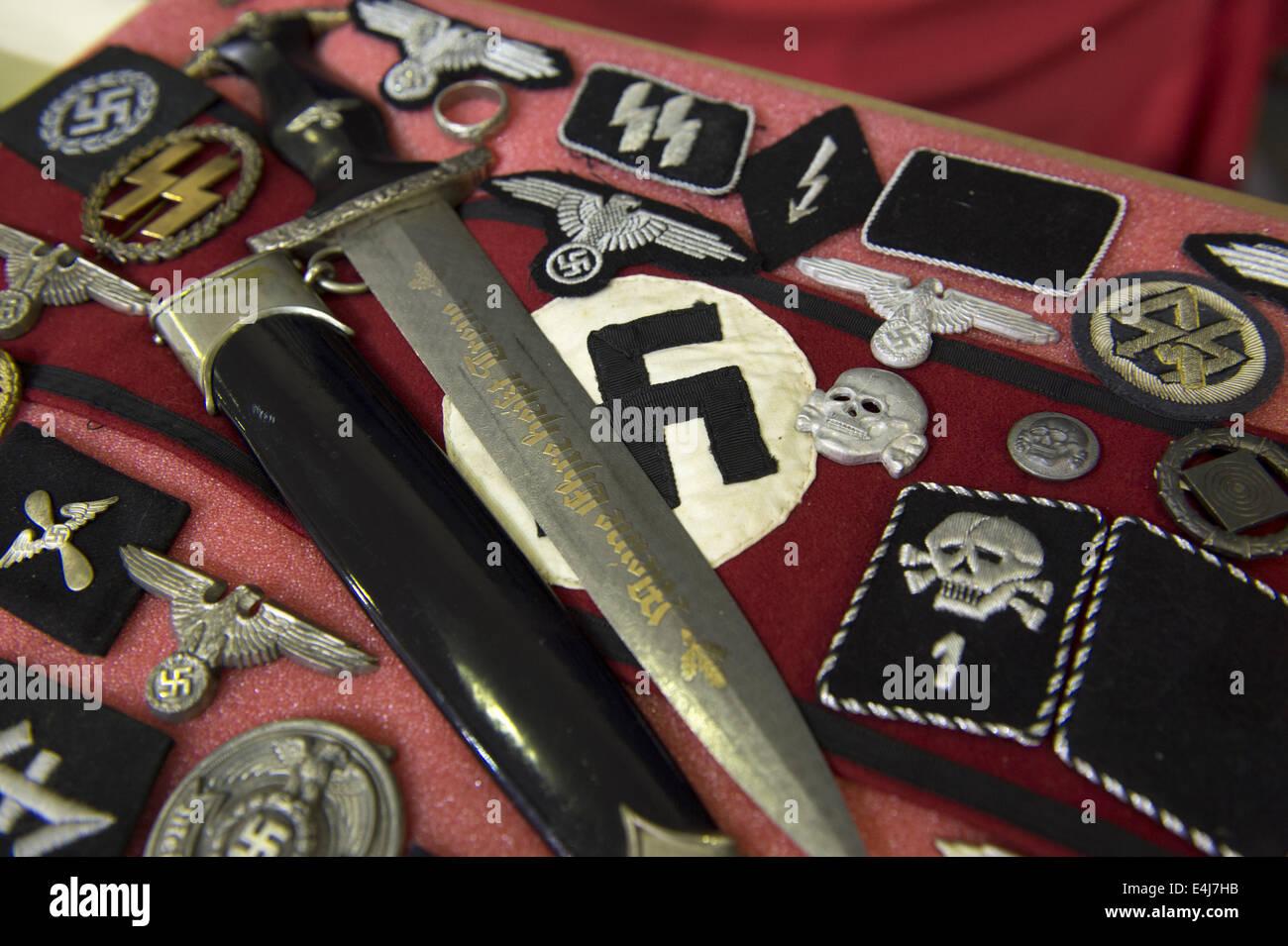 Marietta Ga Usa 11 Juli 2014 Antike Militärische Waffen Zeigen