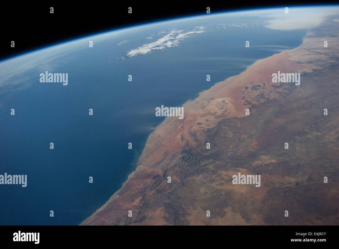 Namibia, Schlag Berg Winde in den Atlantischen Ozean, Afrika Stockbild