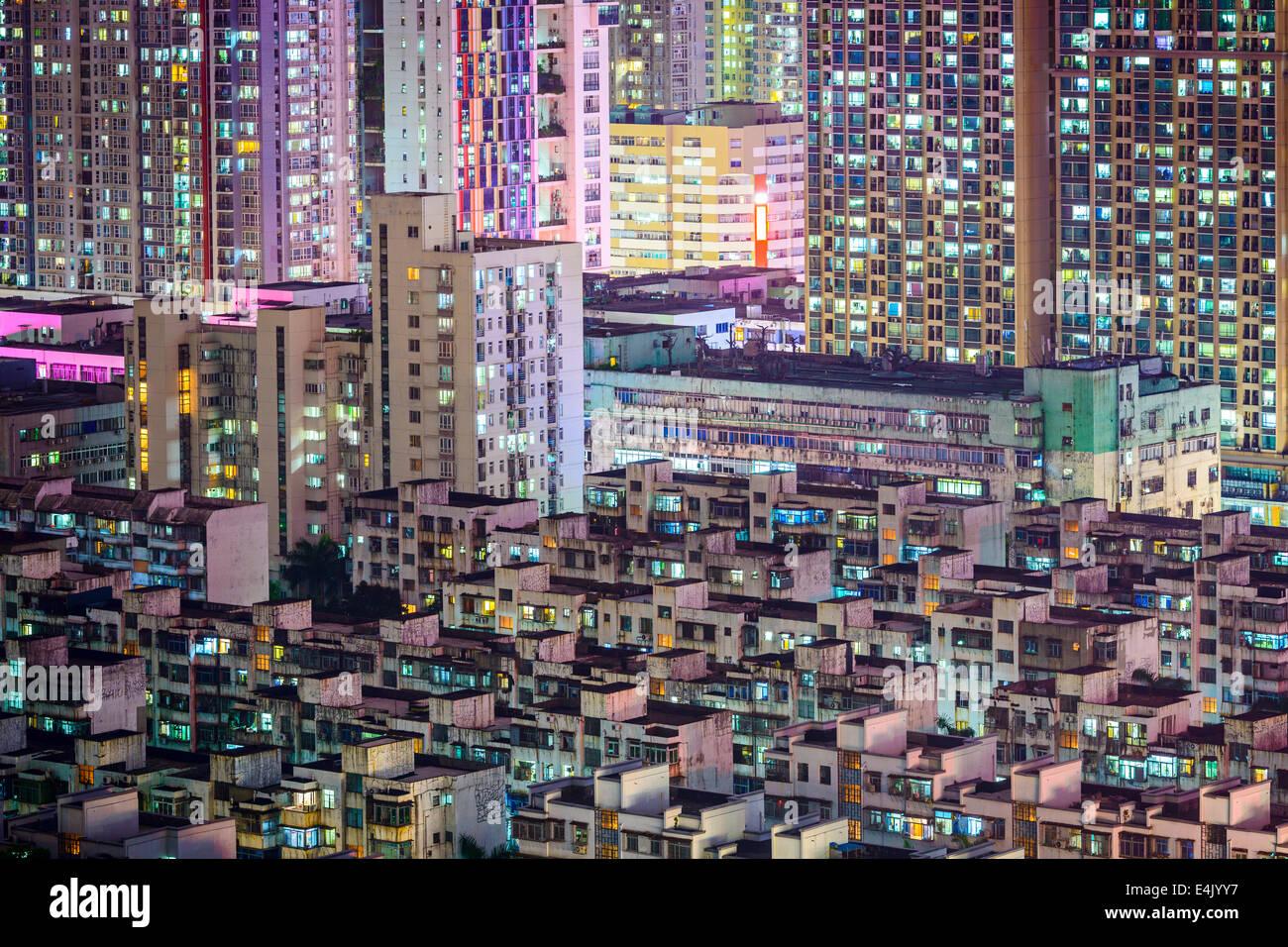 Shenzhen, China Skyline der Stadt in der Dämmerung. Stockbild