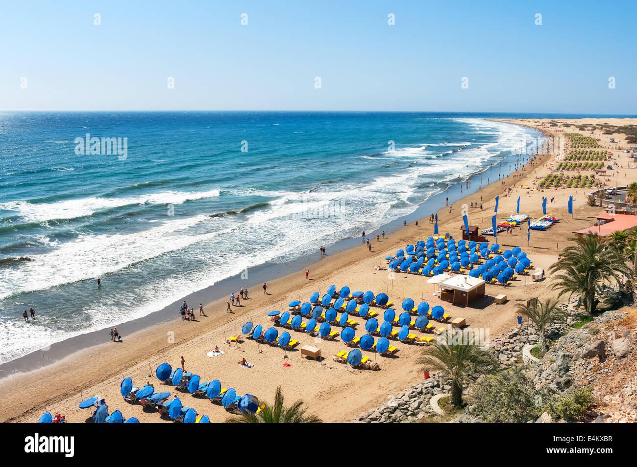 Der Strand von Maspalomas Stockbild