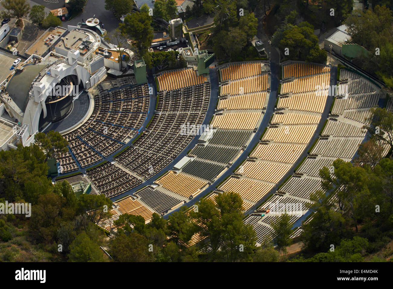 Hollywood Bowl, Hollywood, Los Angeles, Kalifornien, USA - Antenne Stockbild