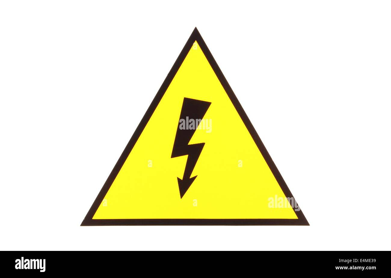 Hohe Spannung Gefahr, Hochspannung Gefahrenzeichen, elektrische ...