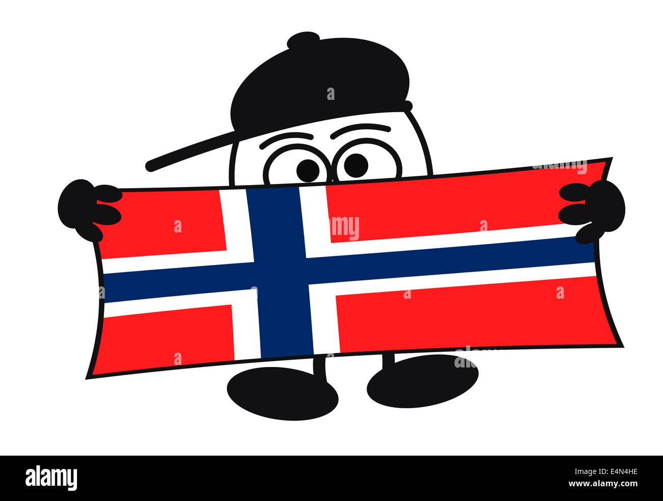 Eierkopf - willkommen Norwegen Stockfoto