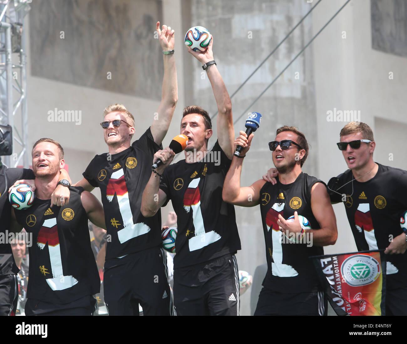 Berlin Deutschland 15 Juli 2014 Deutsche Fussball Spieler