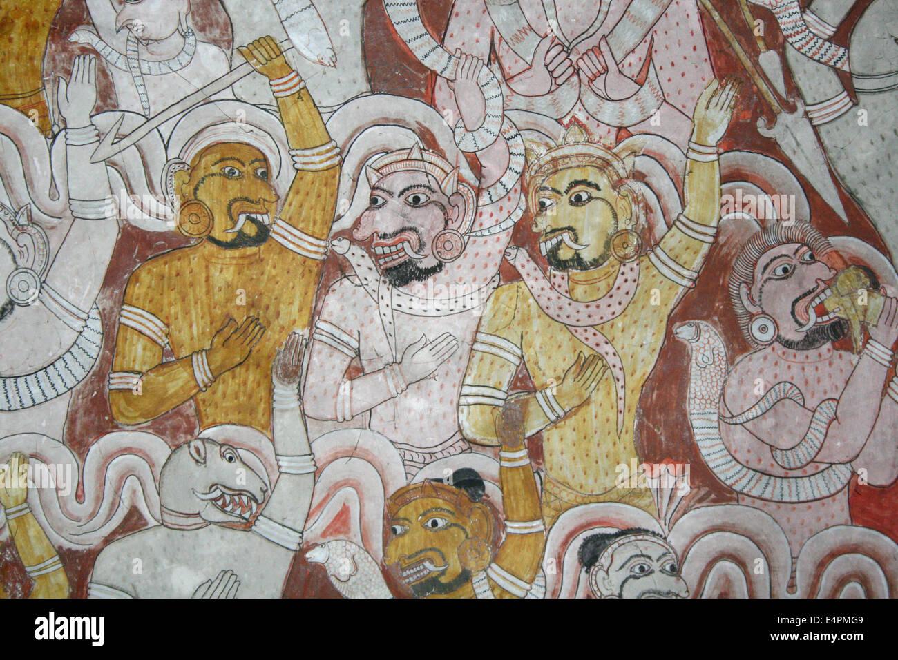 Tempel von Dambulla Stockbild