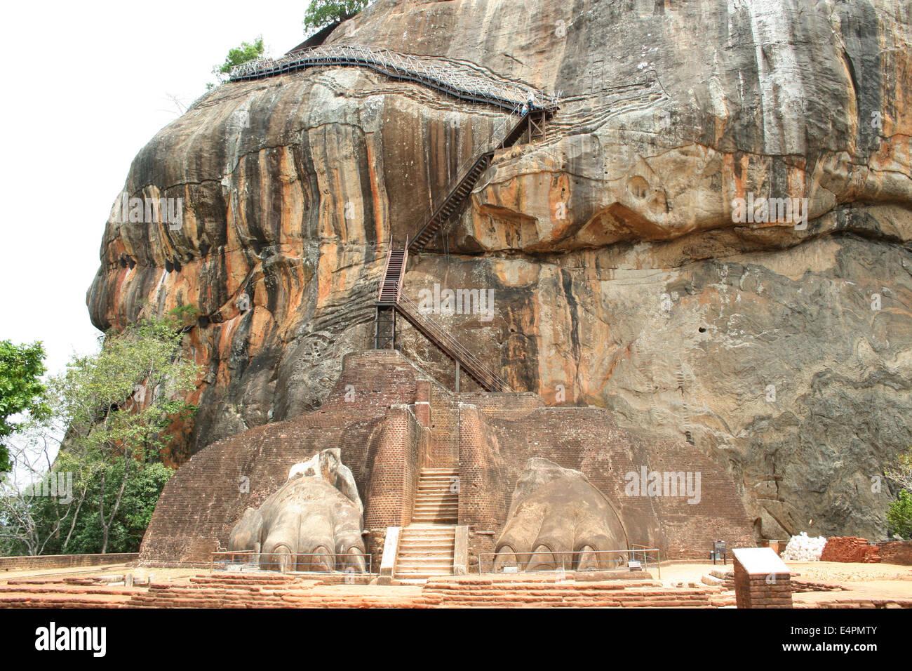 Löwentor Sigiriya Stockbild