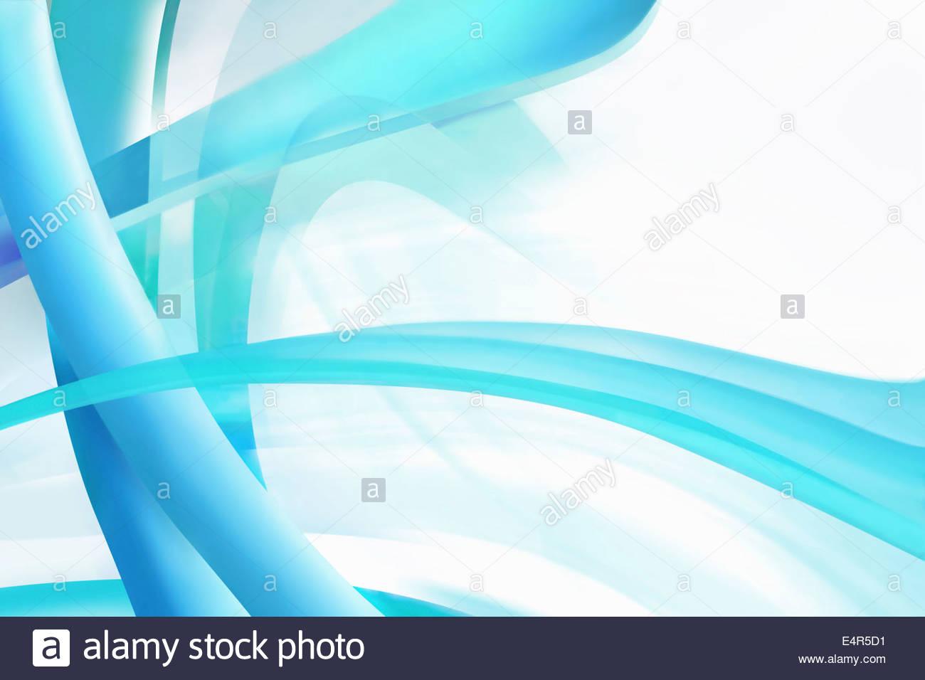 Abstrakt Linienmuster durchscheinende Türkis Stockbild