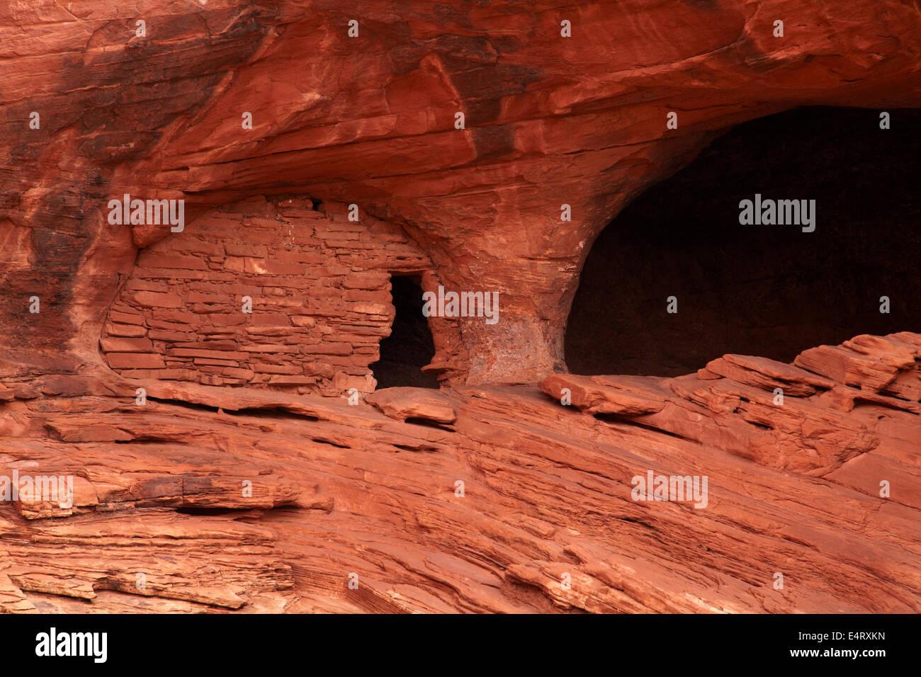 Baby Haus Ruinen, Anasazi Cliff dwelling, Mystery Valley, Monument Valley, Navajo-Nation, Arizona, USA Stockbild