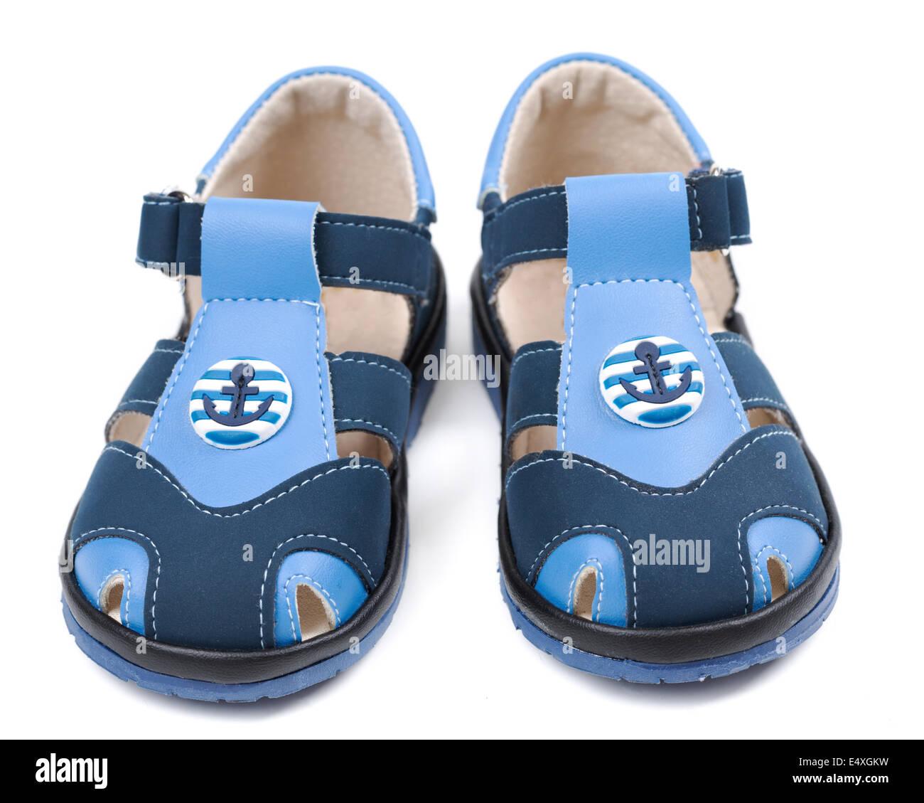 Des Kindes Sandalen auf weißem Hintergrund Stockfoto, Bild  71883949 ... 642eca9e24