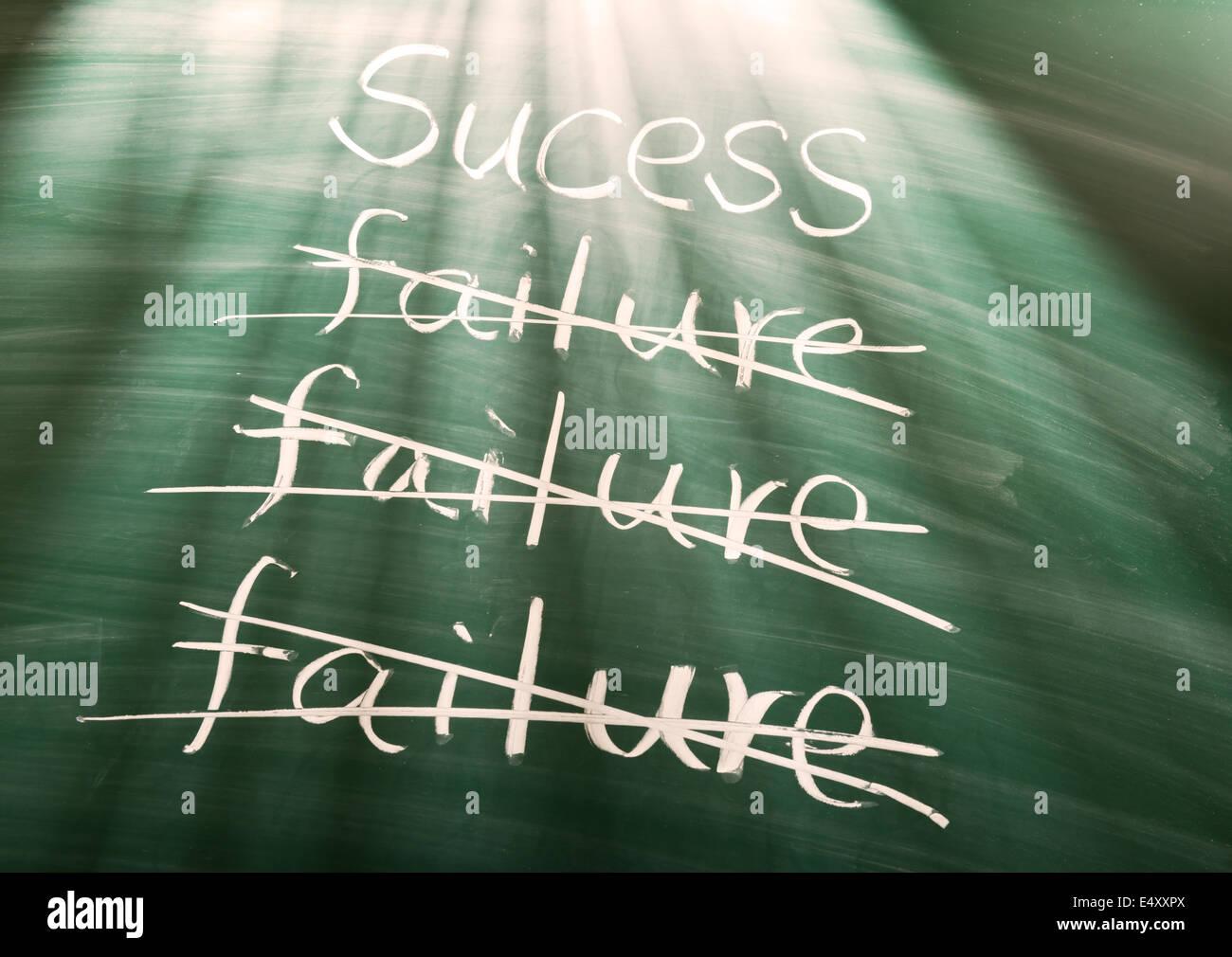 Versagen zum Erfolg Stockbild