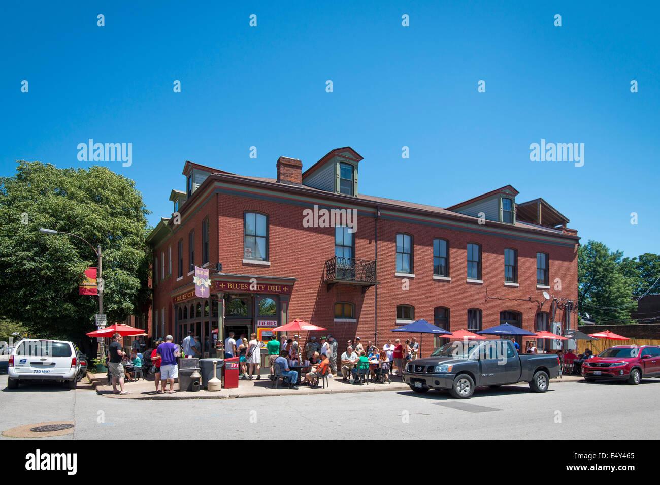 Blues-Stadt Deli, berühmt für seine gute Küche und am Nachmittag ...
