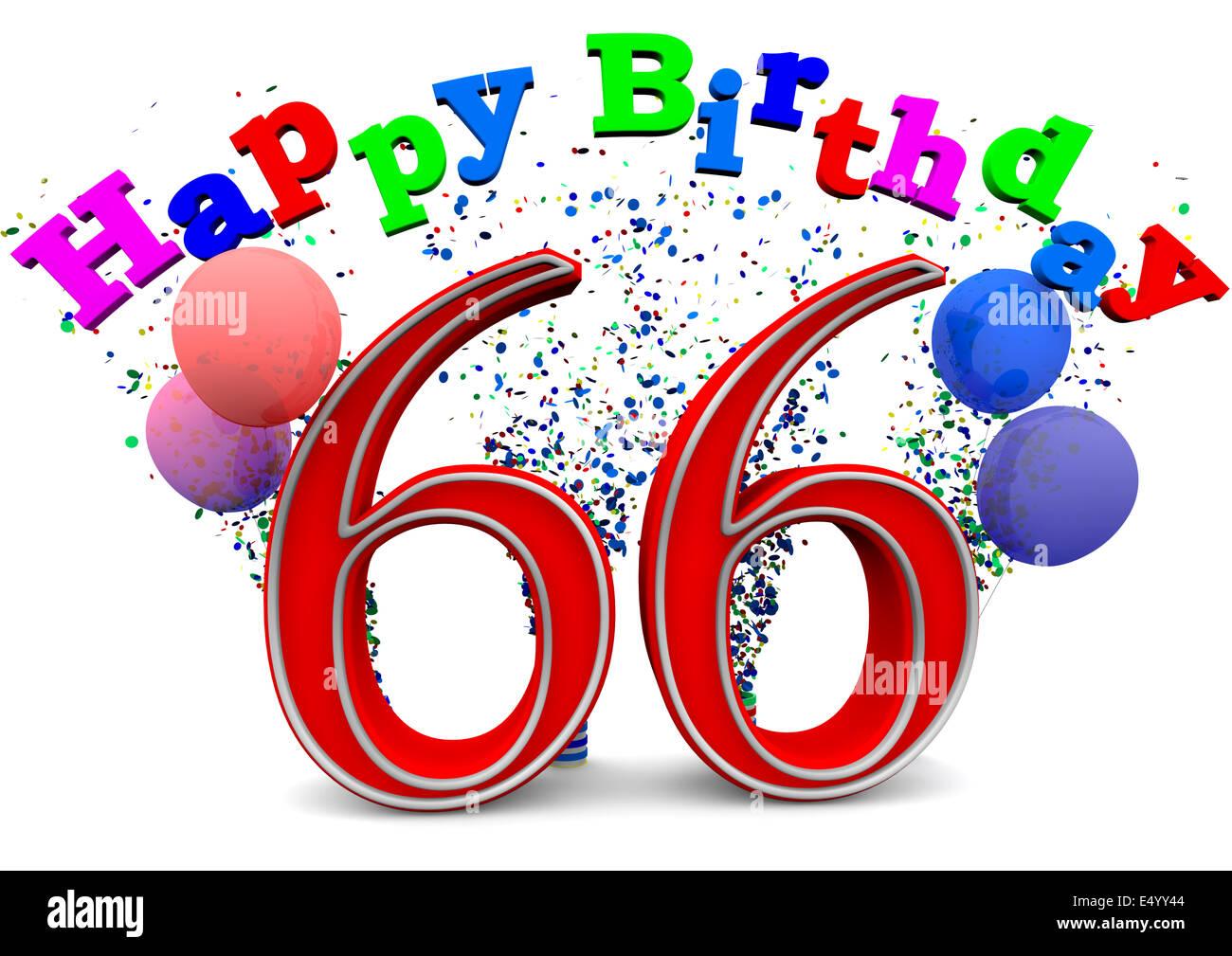 happy birthday 66 stockfotos happy birthday 66 bilder. Black Bedroom Furniture Sets. Home Design Ideas
