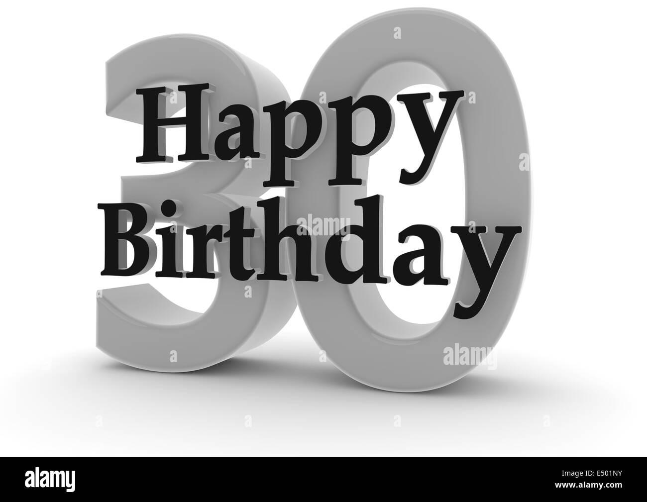 Alles Gute Zum Geburtstag Zum 30 Geburtstag Stockfoto Bild