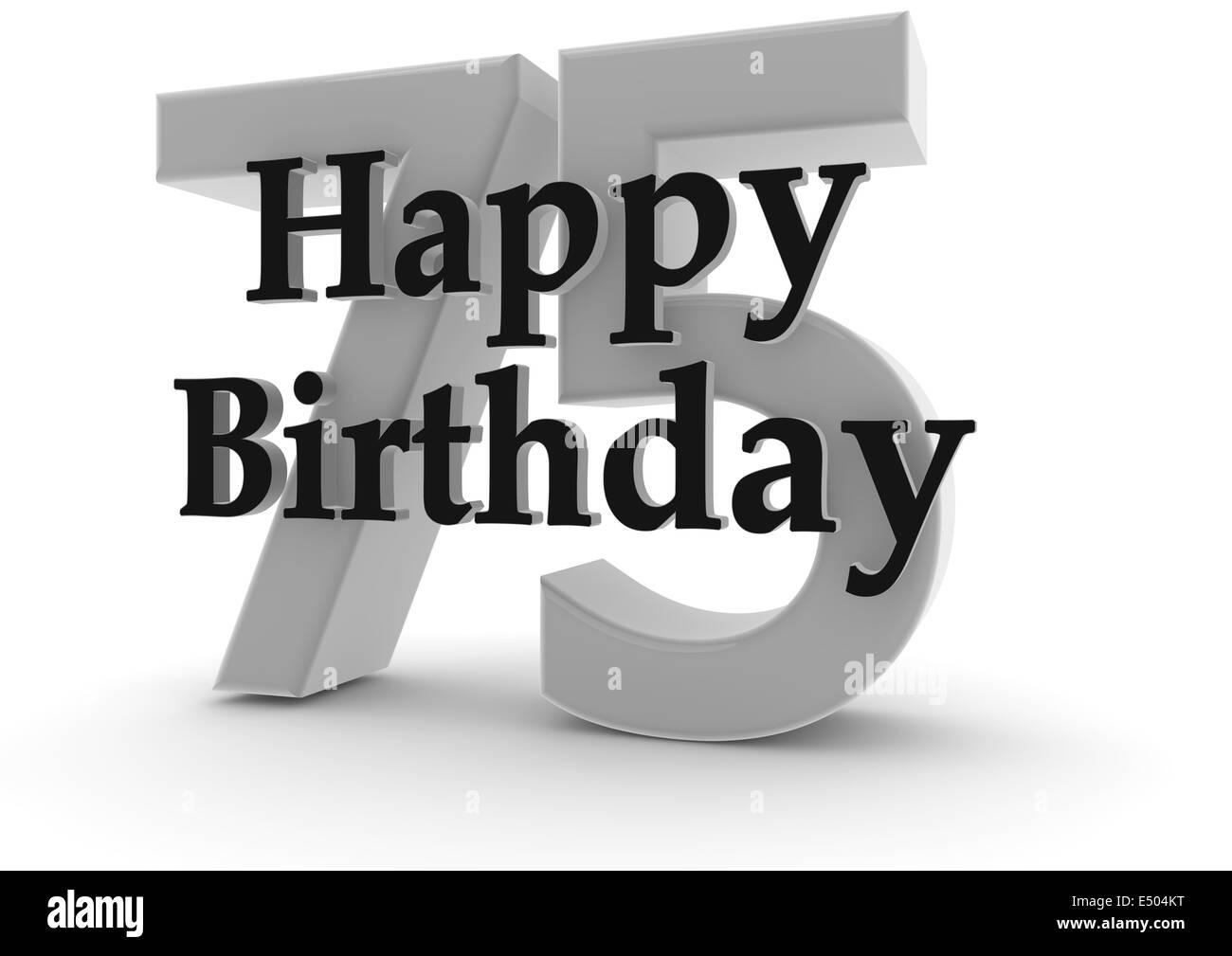 Herzlichen Glückwunsch Zum 75 Geburtstag Stockfoto Bild 71918444