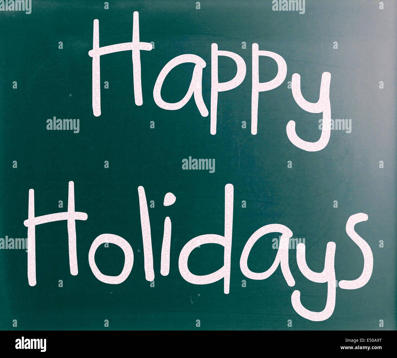 Frohe Feiertage Vektor-Schriftzug Stockbild