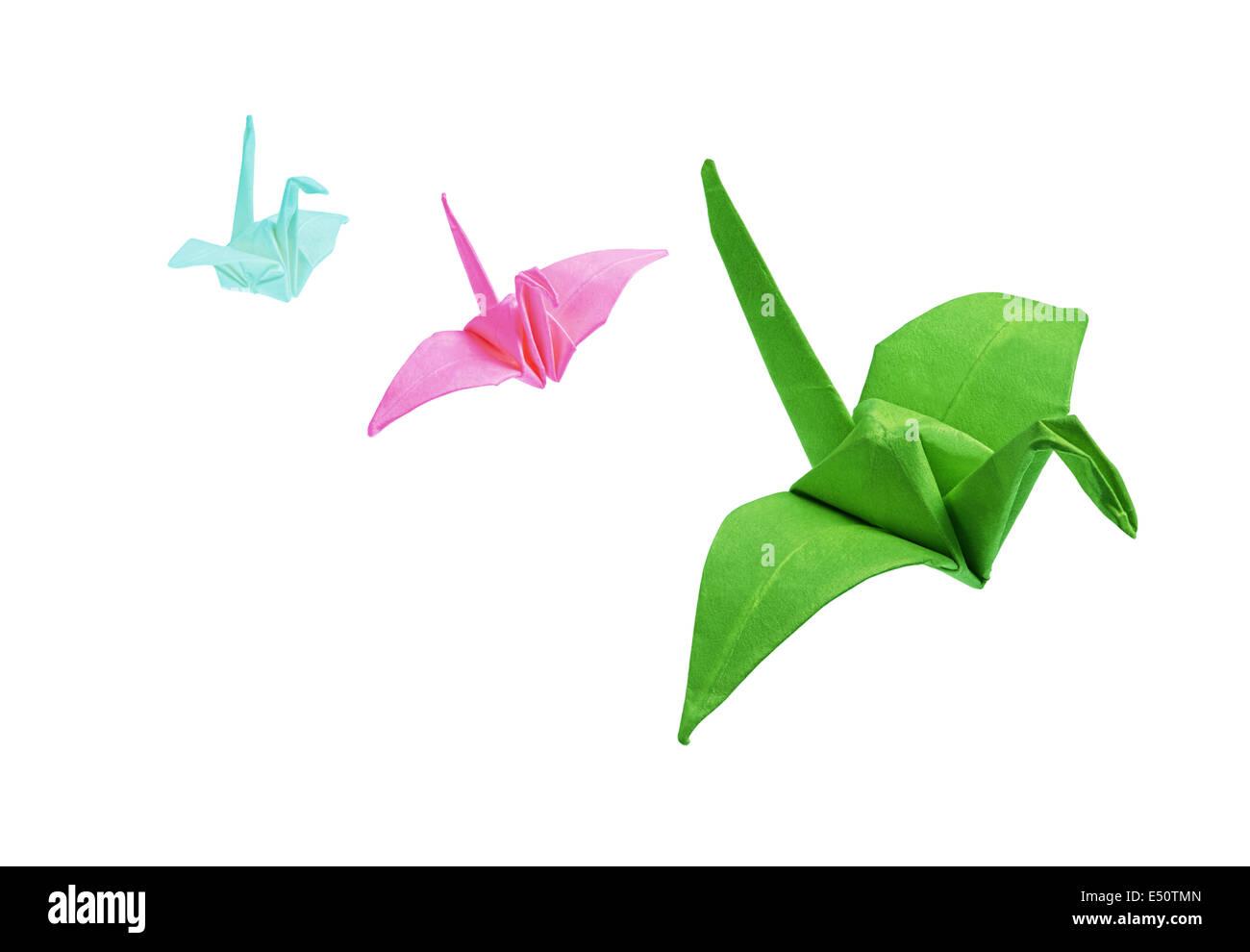 Origami-Vögel Stockbild