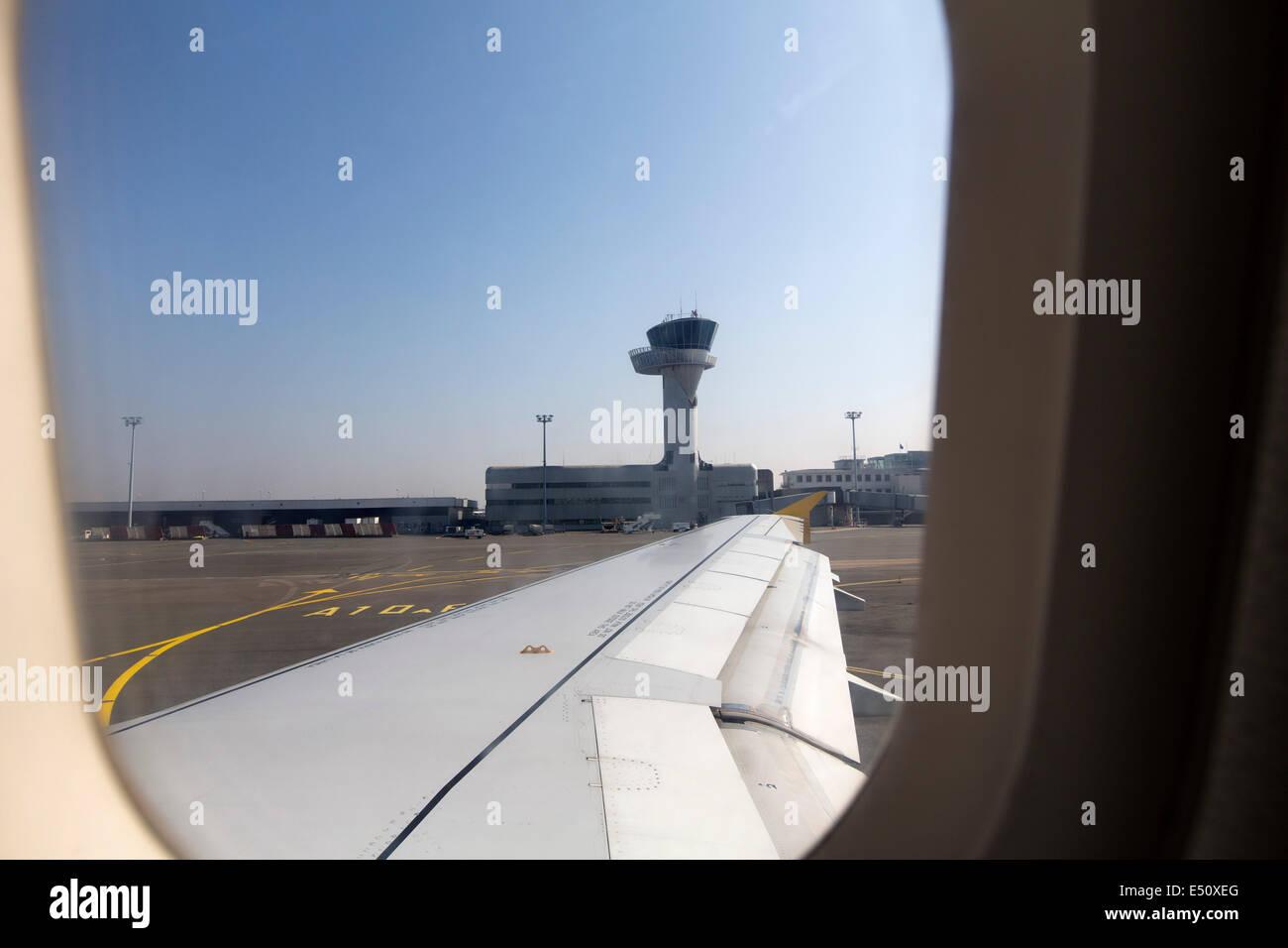 Flughafen Bordeaux Aquitaine Frankreich Stockbild