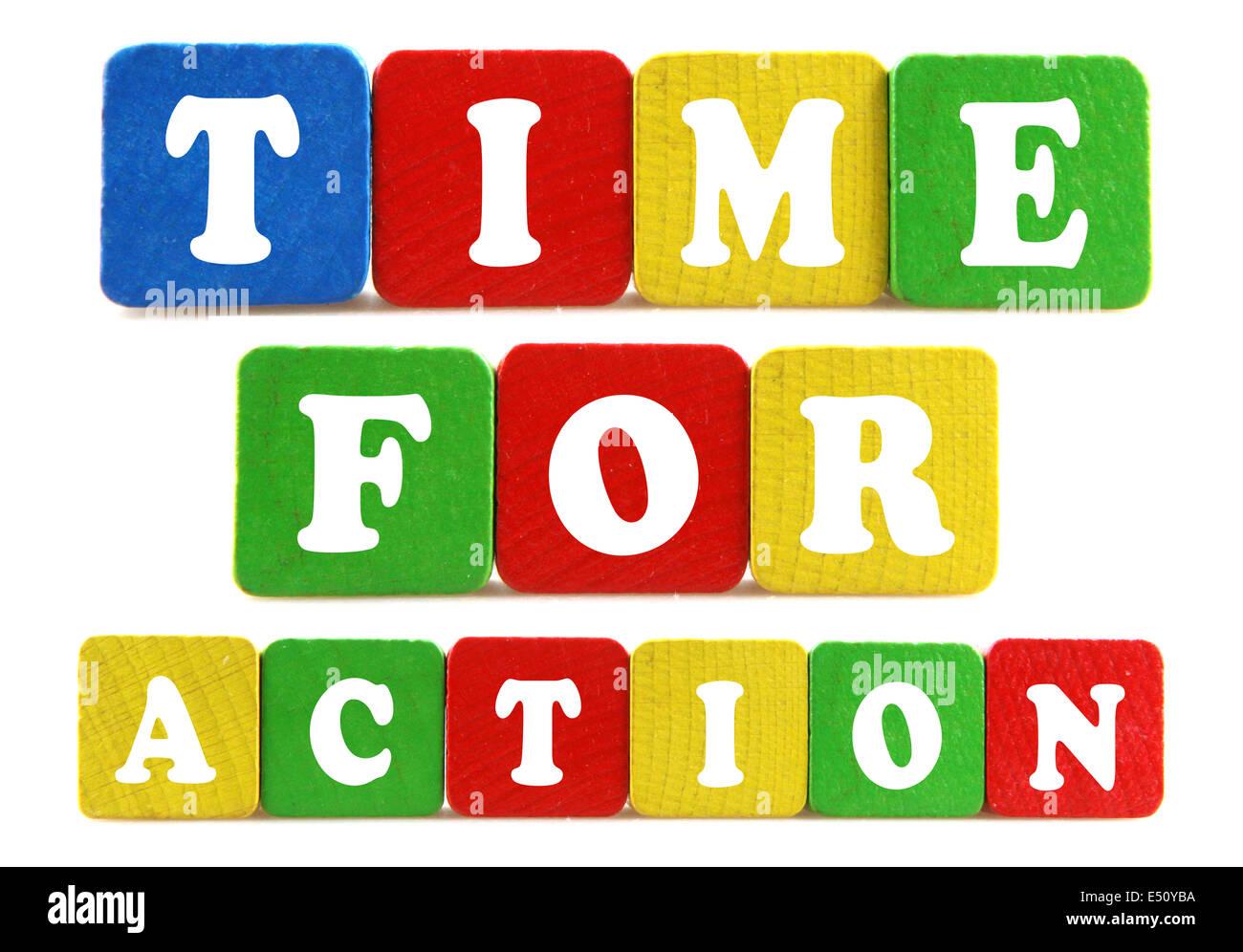 Zeit für Action concept Stockbild